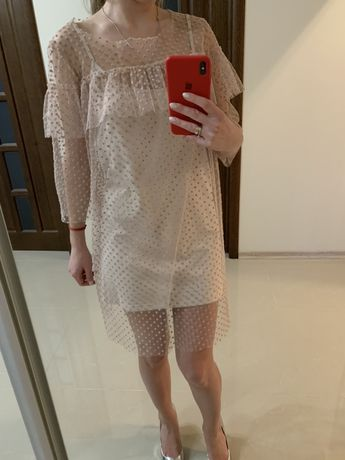Плаття Vovk , хс, пудрове(платье xs, пудровое)34 с-ка,36
