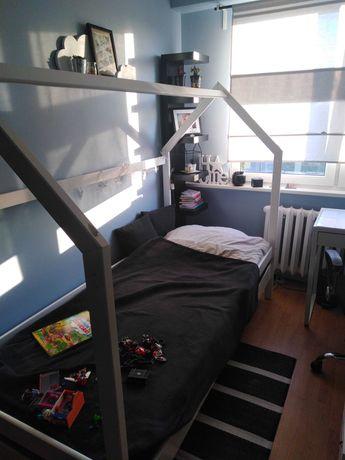 Łóżko białe domek