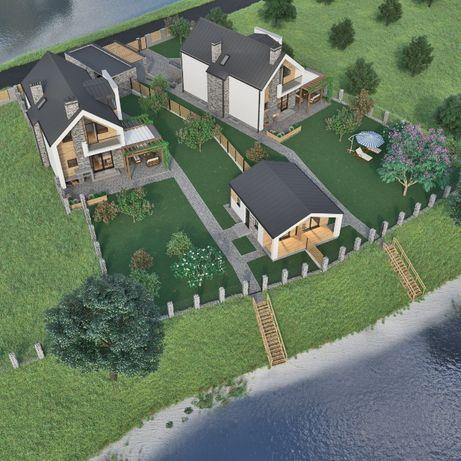 Сучасний будинок 132кв.м. на березі річки 8 км від Київа / Дом