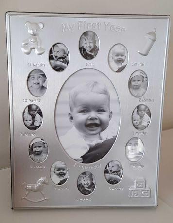 porta retrato bebé 1 a 12 meses