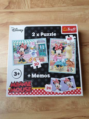 Trefl puzzle x2 + Memory Disney Minnie Mouse