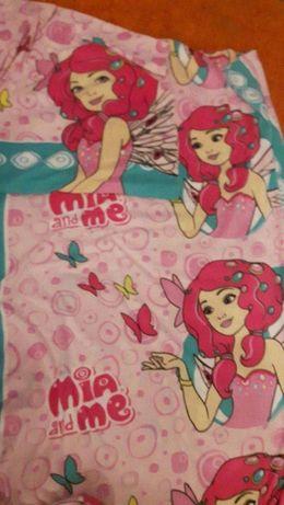 zestaw pościeli cieplutkiej dla dziewczynki jak NOWA 140x200 70x80