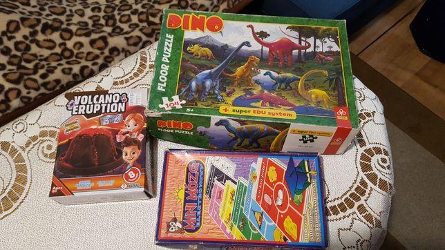 Zabawki puzzle dinozaury