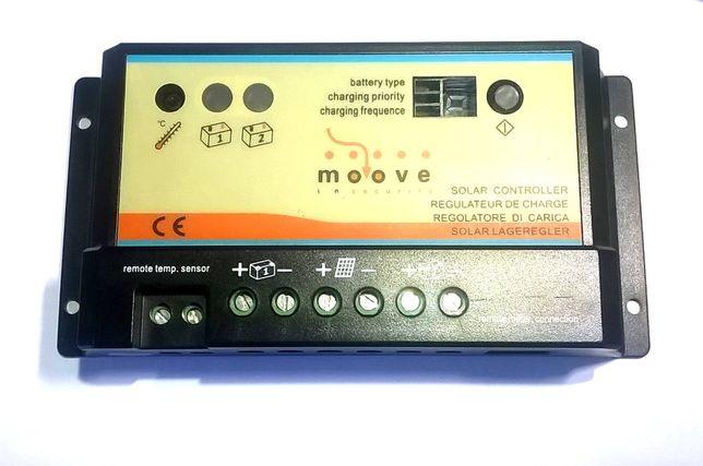Regulador Painel Solar 1 ou 2 Baterias independentes 12V 10A PWM Carga