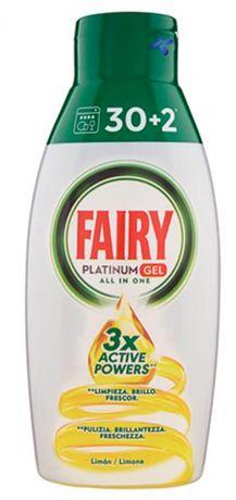 Бесфосфатный гель для посудомойки Fairy Platinum All in One 32 цикла
