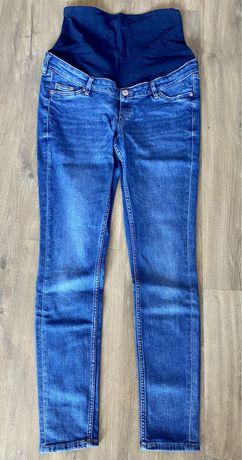 Jeansy ciążowe, z pasem, rozm M, H&M mama, skinny, jeans