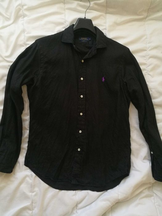 Koszula lniana Polo Ralph Lauren czarna len tommy armani hugo Włocławek - image 1