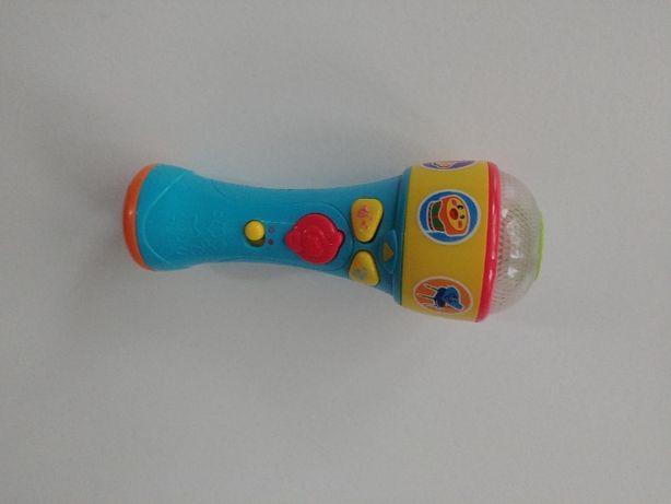 mikrofon zabawka z funkcjami muzycznymi i świetlnymi