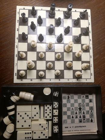 Szachy, warcaby, domino magnetyczne