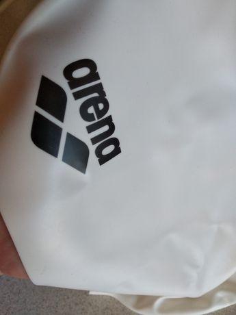 Nowy biały silikonowy czepek Arena / nieużywany