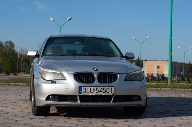 BMW 525D, po stłuczce ale jeżdżąca