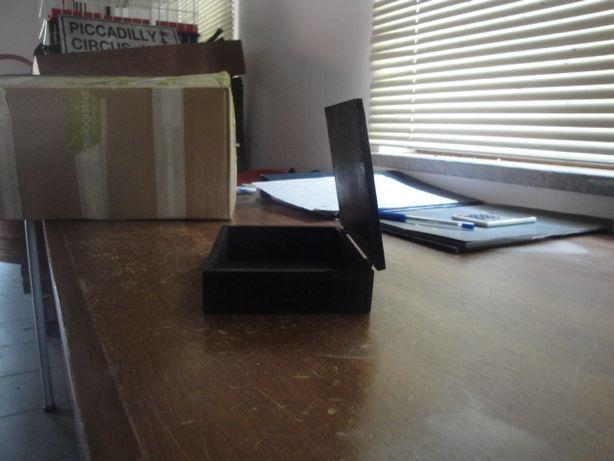 Lote 5 caixas em madeira cor preto
