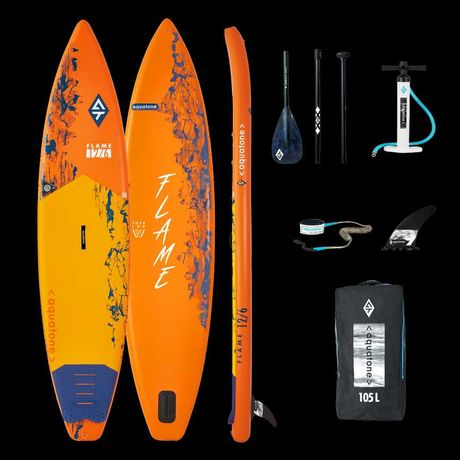 Deska SUP -5% Aquatone Flame 12'6″ Komplet! DPD gratis.