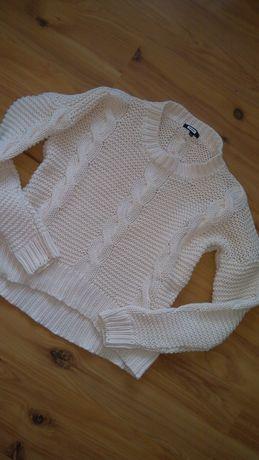 Bik Bok sweter 34 36 warkocze ciepły ecri