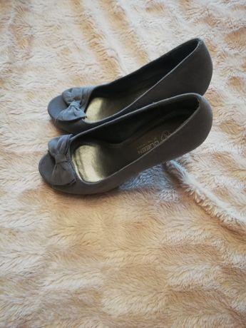 Szare buty damskie szpilki