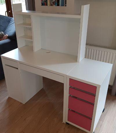 Biurko dla dziecka używane (Ikea) z komodą z sufladkami
