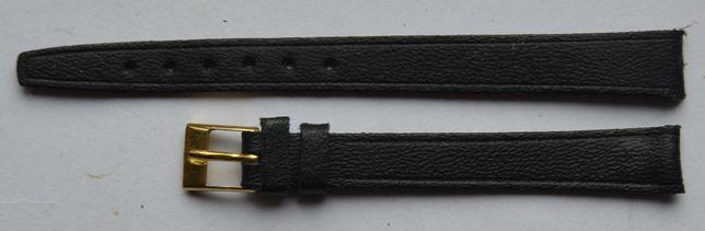 Czarny damski pasek do zegarka 10 mm. Nowy! Skórzany! Wysoka jakość!