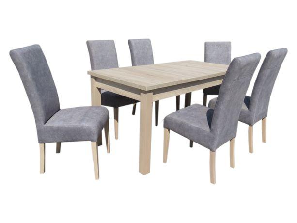 Stół rozkładany z krzesłami do salonu do jadalni