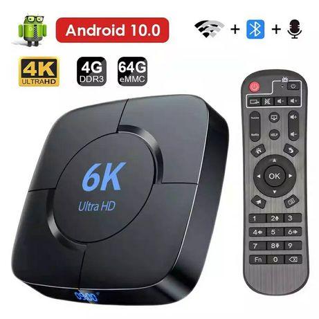 ТВ приставка Transpeed 6K 4Гб/32Гб, 4 ЯДРА , Android TV box медиаплеер