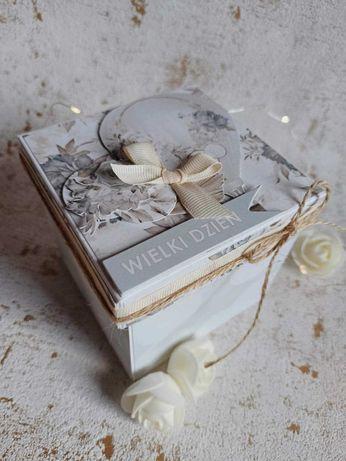 Pamiatka komunijna, chrzest, ślub, roczek, exploding box