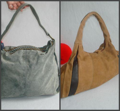 Кожаная сумка бренд promod 100% замша