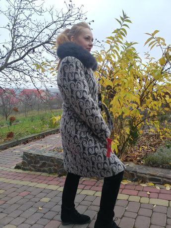 Пальто єврозима натуральне хутро