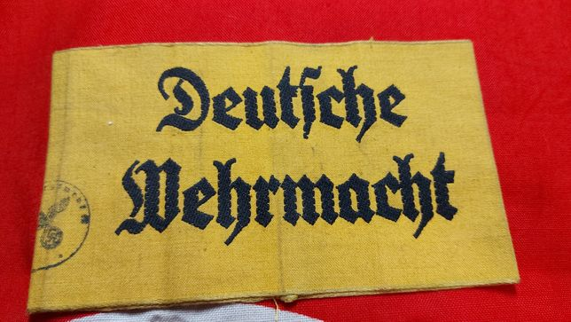 Braçadeira DEUTSCHE WEHRMACHT armband Alemanha nazi suástica ORIGINAL