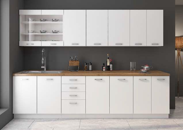 Nowe nowoczesne Meble kuchenne Kuchnia WHITE BIAŁY MAT DOSTAWA 7 dni