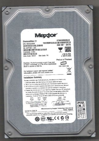 """Продам жёсткий диск MAXTOR 3,5""""SATA 320 гб, б/у."""