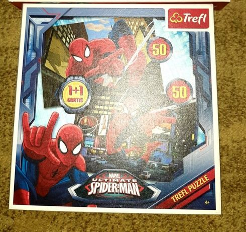 Puzzle Autka, Spiderman, auta sportowe