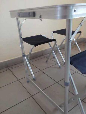 Tramp комплект мебели стол и 4 стулья складные