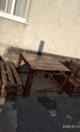 Продам комплект мебели из поддонов!!