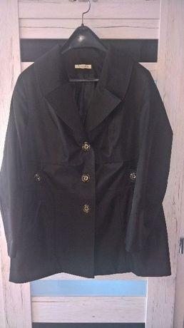 Czarny Klasyczny elegancki płaszcz na jesień IDEAŁ!! SZYTY NA WYMIAR