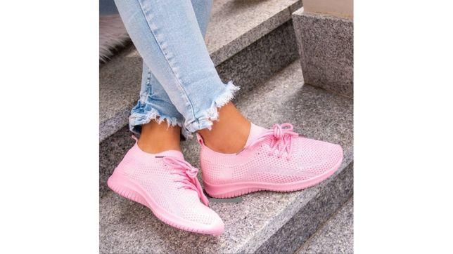 Sportowe wygodne buty damskie - Różowe oraz Beżowe