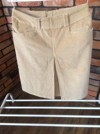 Spódnica sztruksowa - beżowa / kremowa / jasno brązowa