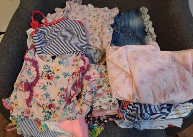 Paczka ubranek na lato dla dziewczynki 74