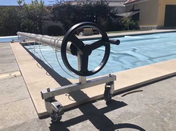 Cobertura de bolhas para aquecimento agua piscina