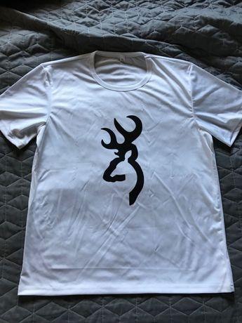 2 Koszulki T-shirt Browning XL , białe.