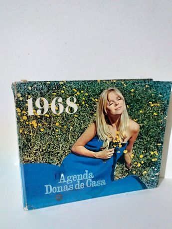 Rara e antiga agenda donas de casa 1968 tem muita publicidade antiga