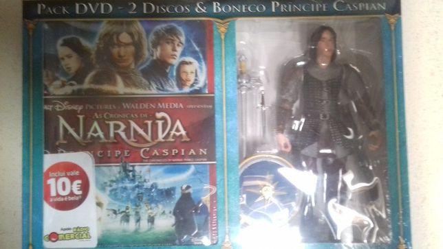 Pack 2 Discos DVD+Boneco Miniatura NARNIA- CASPIAN Prince