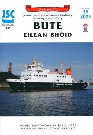 Prom pasażersko-samochodowy Bute Eilean Bhóid - model kartonowy