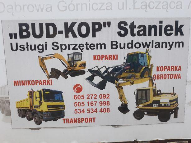 Oferujemy usługi koparko-ładowarką, Koparka kołową 17 t,minikoparka