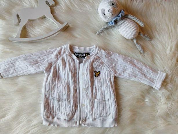 Elegancki biały sweterek 68 święta, chrzest