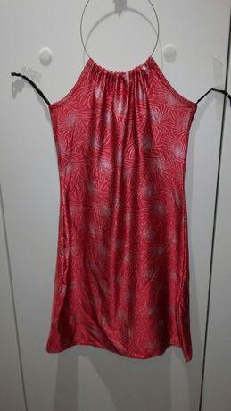 Vestido / túnica vermelho com brilhantes