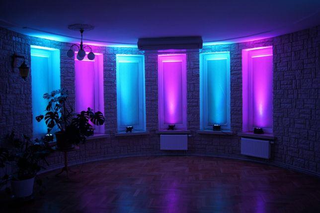 6 sztuk LED PAR 18x3W RGB z pokrowcem!