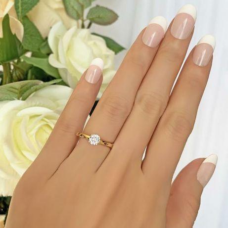 Piękny Pierścionek Zaręczyny Prezent