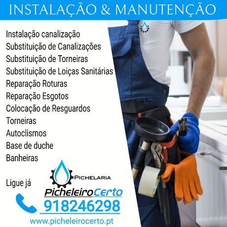 Picheleiro - Canalizador, Remodelação, Reparação, Orçamento Grátis