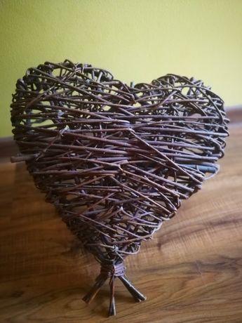 Wiklinowe serce brązowe