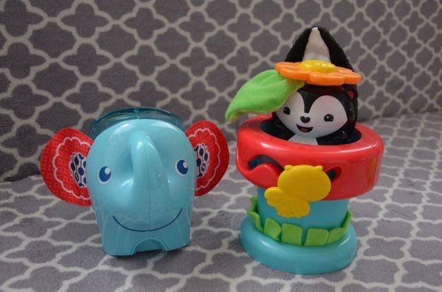 Fisher price słonik kiwaczek z piłeczkami doniczka zabawka edukacyjna