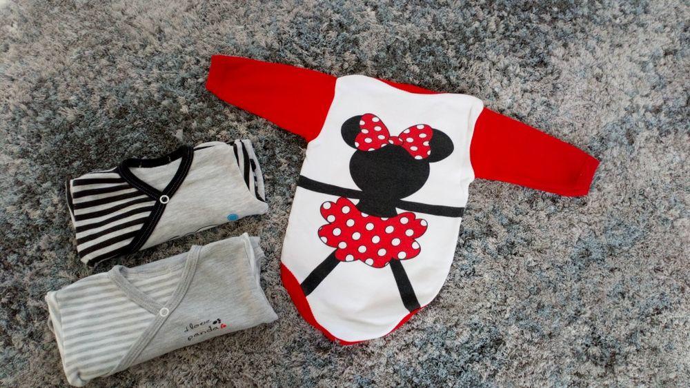 Zestaq body minnie Mickey 62 0-3 miesięcy Disney j.h&m body kopertowe Białystok - image 1